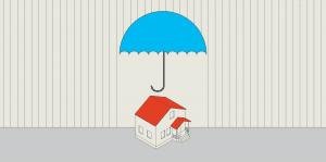 Haus Regenschirm