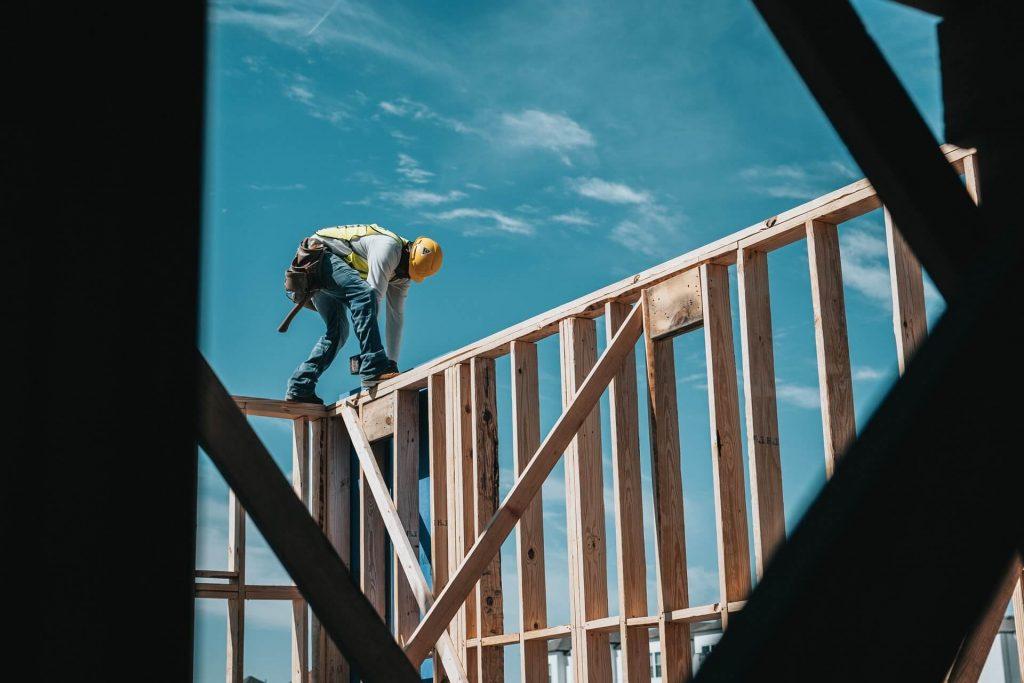 Bauarbeiter Hausbau